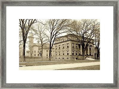 On The Campus Of Yale C1907 Framed Print