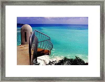 On The Edge Framed Print by Karen Wiles