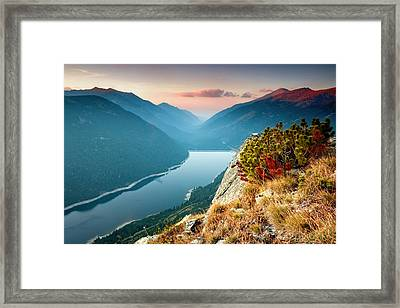 On The Edge Of The World Framed Print by Evgeni Dinev