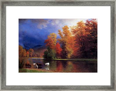 On The Saco Framed Print