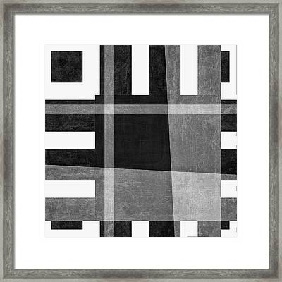 Framed Print featuring the photograph On The Tarmac Designer Series 3a16bw by Carol Leigh