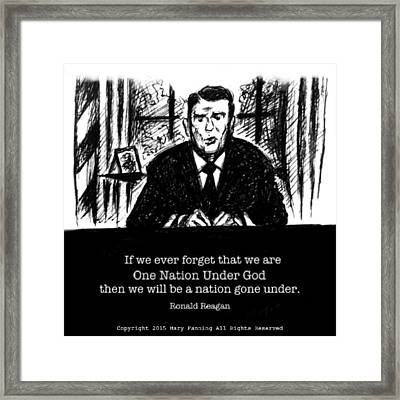 One Nation Under God Framed Print by Mary Fanning