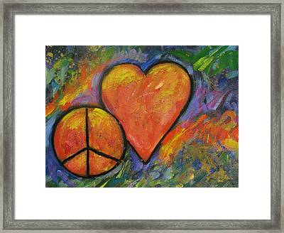 One Peace One Heart Framed Print