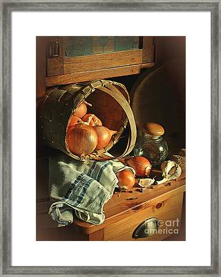 Onionart Framed Print