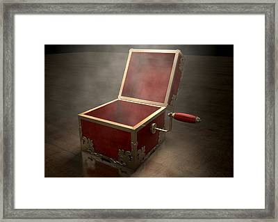 Open Jack-in-the-box Antique Framed Print