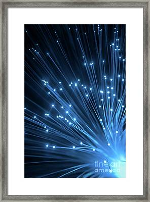 Optic Fiber Framed Print