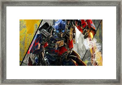 Optimus Prime Transformers Collection Framed Print by Marvin Blaine