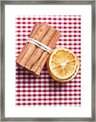 Orange And Cinnamon Framed Print