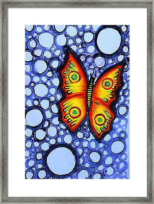 Orange Butterfly Framed Print by Brenda Higginson