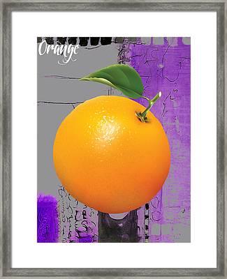 Orange Collection Framed Print