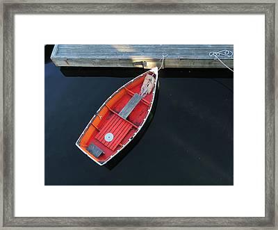 Orange Dinghy Framed Print