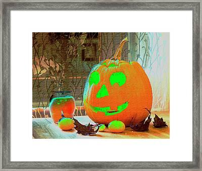 Orange Halloween Decoration Framed Print