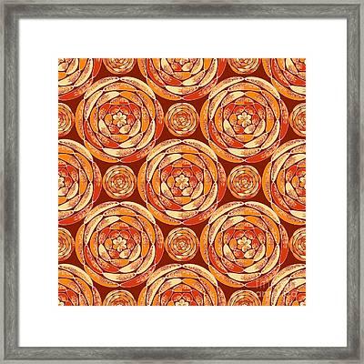 Orange Pattern Framed Print by Gaspar Avila