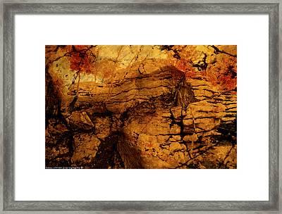 Orange Rock. Framed Print