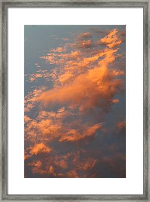 Orange Sky Framed Print by Brande Barrett