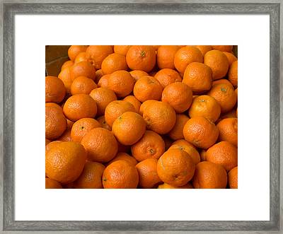 Oranges For Sale In The Souk, Fes Framed Print by Panoramic Images
