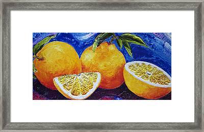 Oranges Framed Print by Paris Wyatt Llanso