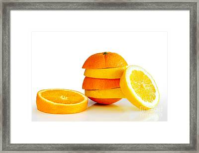 Oranje Lemon Framed Print by Carlos Caetano