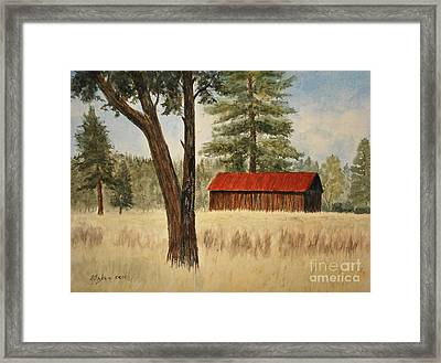 Oregon Barn Framed Print