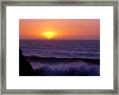 Oregon Sunset Framed Print by Scott Gould