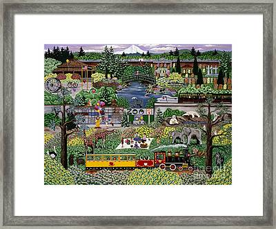 Framed Print featuring the painting Oregon Zoo by Jennifer Lake