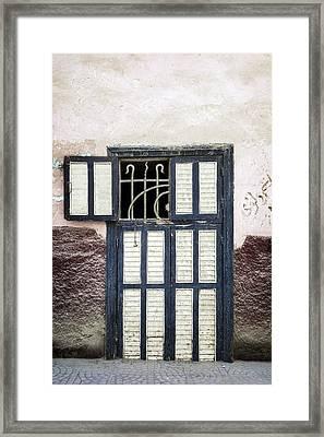 Oriental Door Framed Print by Joana Kruse