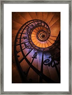 Ornamented Spiral Staircase Framed Print by Jaroslaw Blaminsky