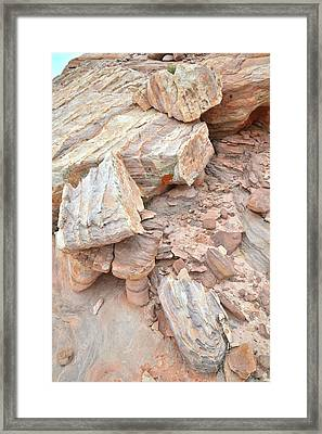 Framed Print featuring the photograph Ornate Sandstone In Valley Of Fire by Ray Mathis