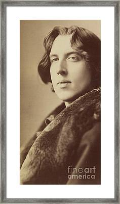 Oscar Wilde, 1882 Framed Print