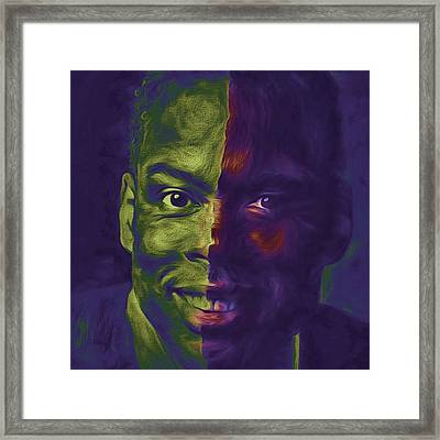 #oscars @chrisrock @jerryseinfeld Framed Print by David Haskett