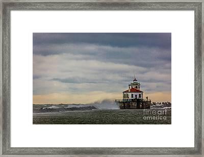 Oswego Harbor West Pierhead Light Framed Print