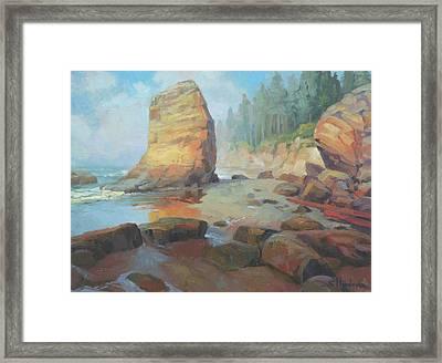 Otter Rock Beach Framed Print by Steve Henderson