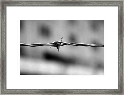 Framed Print featuring the photograph Ouch by Jez C Self