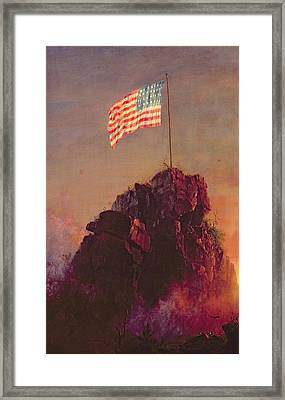 Our Flag Framed Print by Frederic Edwin Church