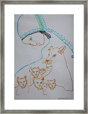 Our Lady Framed Print by Gloria Ssali