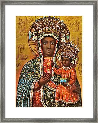 Our Lady Of Czestochowa Black Madonna Poland Framed Print by Magdalena Walulik