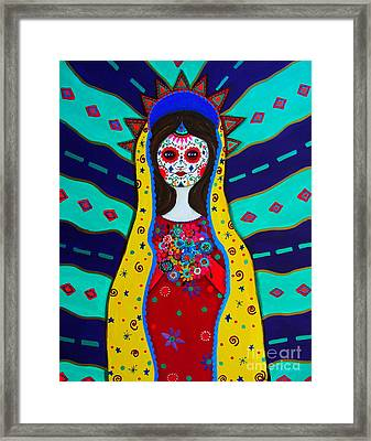 Our Lady Of Guadalupe Framed Print by Pristine Cartera Turkus
