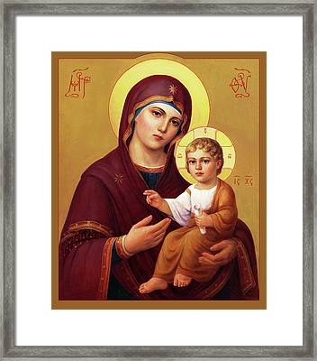 Our Lady Of The Way - Virgin Hodegetria Framed Print