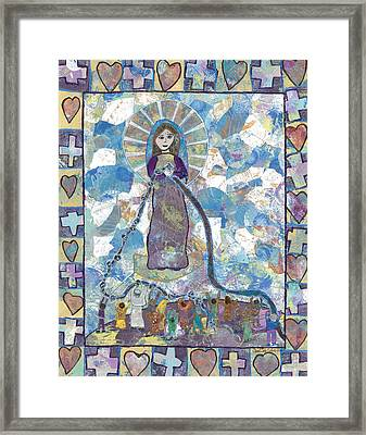 Our Lady Undoer Of Knots Framed Print by Carol Cole