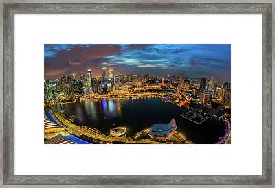 Out Side View For Marina Bay Sand Framed Print by Anek Suwannaphoom