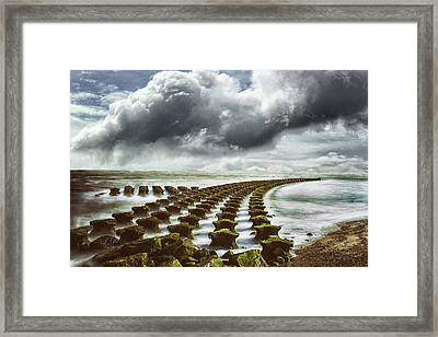 Out To Sea Framed Print by Martin Newman