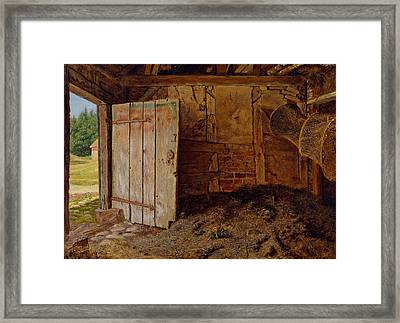 Outhouse Interior Framed Print by Christen Dalsgaard