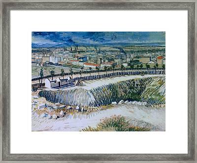 Outskirts Of Paris Framed Print by Vincent van Gogh