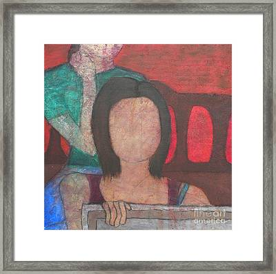 Over My Shoulder Framed Print