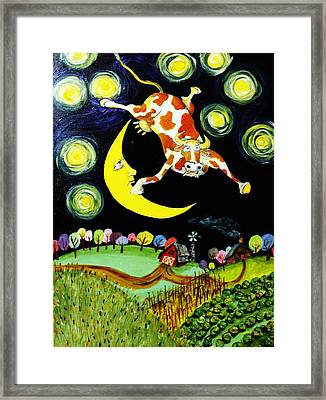 Over The Moon Framed Print by Tex Norman
