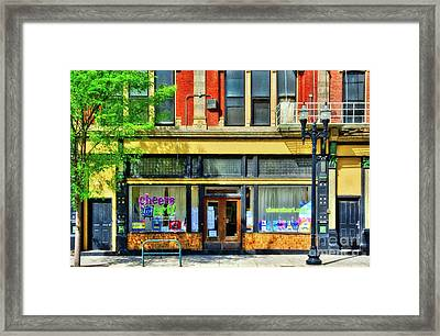 Framed Print featuring the photograph Over The Rhine In Cincinnati # 4 by Mel Steinhauer