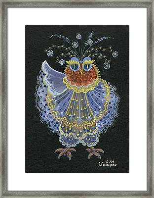Owl Framed Print by Olena Skytsiuk