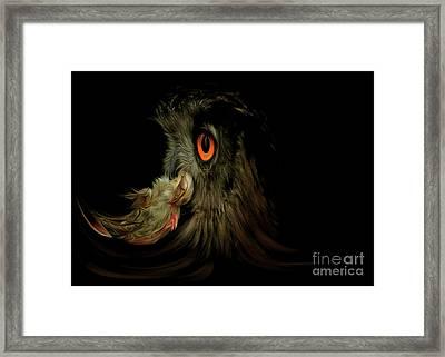 Owl With Prey Framed Print by Michal Boubin