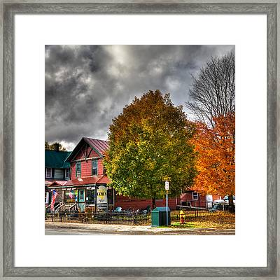 Ozzie's Coffee Bar In Old Forge Ny Framed Print