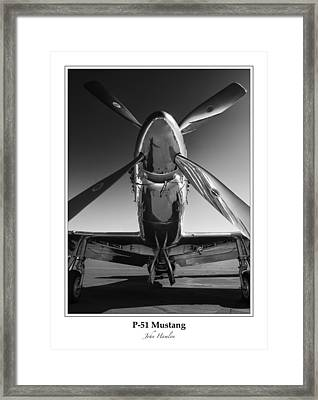 P-51 Mustang - Bordered Framed Print by John Hamlon